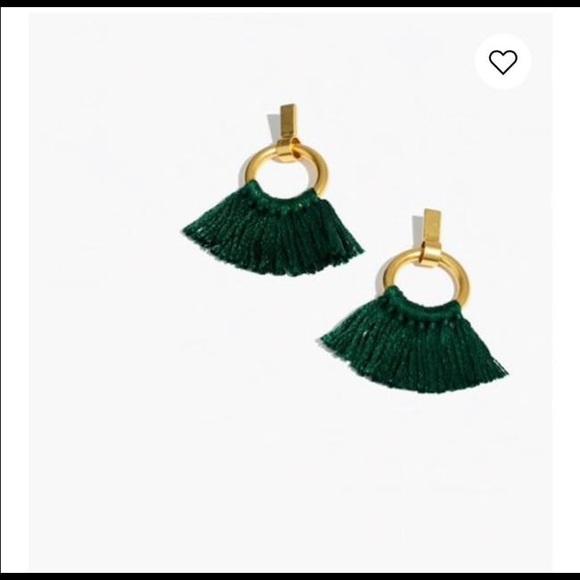Madewell Jewelry - Madewell green tassel earrings